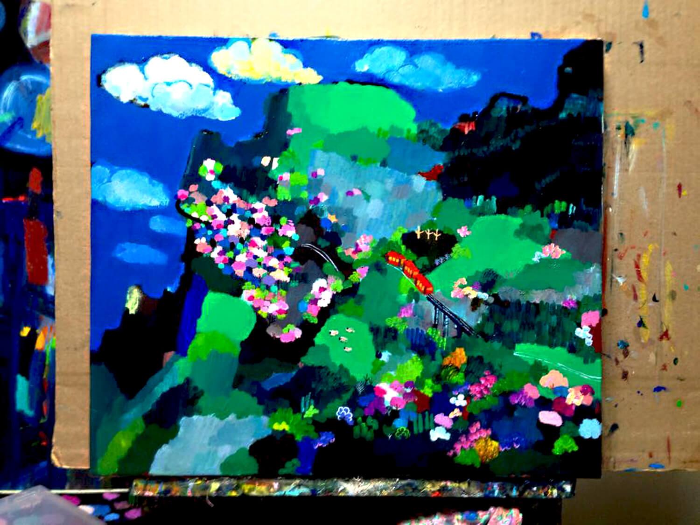 描きかけの油絵