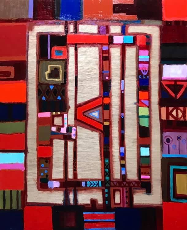 描きかけの絵   65 x 53 cm     油彩 x 木製パネル     2019  #現代アート