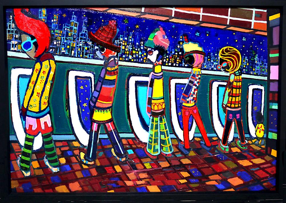 SOLD   THE OPEN WINDOW   50 x 72 cm   油彩 x 木製パネル   2018    TAGBOAT  #現代アート