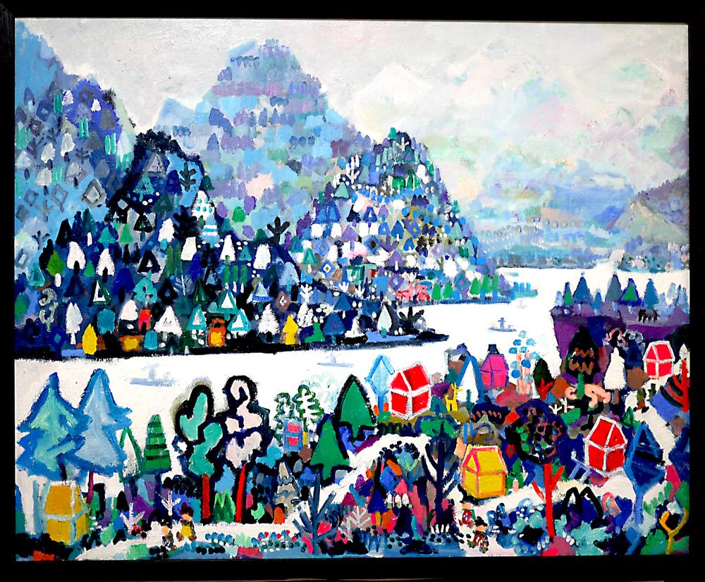 ON SALE   ホワイトヴィレッジ   油彩 x キャンバス   80 x 100 cm   2019   GALLERY TAGBOAT #現代アート