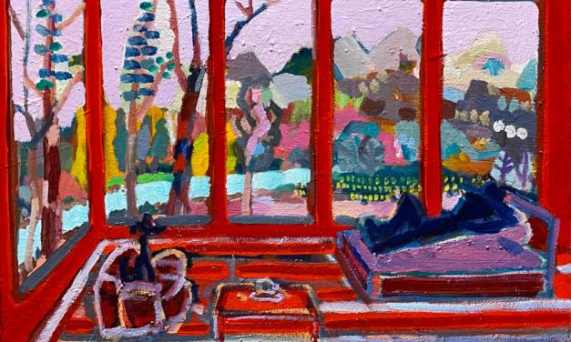描きかけの絵   油彩 x 木製パネル   38 x 45 cm   2020 #現代アート