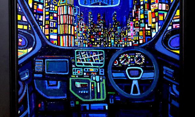ON SALE   art scouter   夜のドライブ   38 x 45 cm   2018   #求龍堂 #現代アート #artscouter