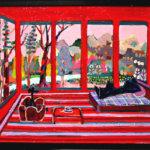 ON SALE | リビングルーム | 油彩 x 木製パネル | 38 x 45 cm | 2020 | 求龍堂 #現代アート