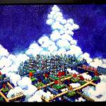 ON SALE | SKY CITY | 油彩 x キャンバスボード | 38 x 45 cm | 2020 | 求龍堂 #現代アート