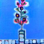 SOLD | Winter flower | 41 x 31 cm | 油彩 x 木製パネル | 2021 |  ドイツ行きとなりました  #現代アート