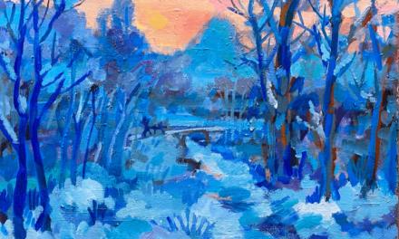 SOLD | Winter landscape | 41 x 53 cm | 油彩 x 木製パネル | 2021 |  ドイツ行きとなりました  #現代アート