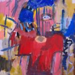 描きかけの絵 | 油彩 x 木製パネル | 65 x 53cm | 2021 #現代アート