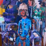 NEW | 油彩 x 木製パネル | 72 x 65cm | 2021 #現代アート