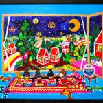 ON SALE | リビングルーム | 油彩 x キャンバスボード | 38 x 45 cm | 2020 #現代アート