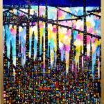 SOLD   夜のまち   130 x 80 cm   油彩 x キャンバス   2018    TAGBOAT  #現代アート