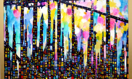 SOLD | 夜のまち | 130 x 80 cm | 油彩 x キャンバス | 2018 |  TAGBOAT  #現代アート