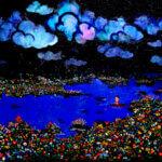 ドリームフィッシング   油彩 x キャンバス   120 x 250 cm   2013 #現代アート