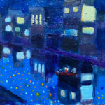 NOW ON SALE   NIGHT FISHING   油彩 x キャンバスボード   24 x 33 cm   2021 #現代アート