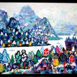 ON SALE | ホワイトヴィレッジ | 80x100CM | 2019 | ARTSTICKER  #現代アート