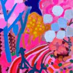 NEW   spring day   油彩 x 木製パネル   41 x 31 cm   2021 #現代アート