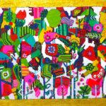 ON SALE   フラワージャングル   31 x 41 cm   油彩 x キャンバス   TAGBOAT #現代アート