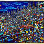 ON SALE   夜のまち   油彩 x キャンバス   97 x 130 cm #現代アート
