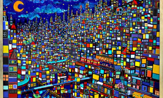 ON SALE | 夜のまち | 油彩 x キャンバス | 97 x 130 cm #現代アート