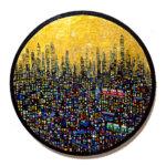 ON SALE   ゴールドタウン   油彩 x キャンバス   直径33 cm   求龍堂 #現代アート