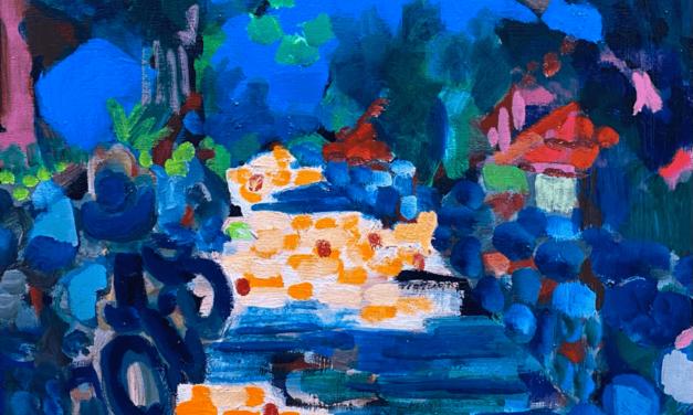 描きかけの絵 | 油彩 x 木製パネル | 53 x 41cm | 2021 #絵画