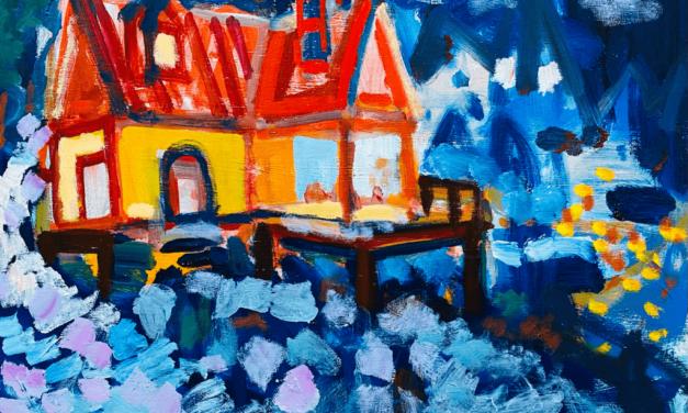 描きかけの絵 | 油彩 x 木製パネル | 31 x 41cm | 2021 #絵画