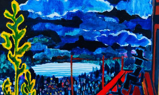 描きかけの絵 | 油彩 x 木製パネル | 38 x 45cm | 2021 #絵画