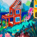 描きかけの絵 | 油彩 x 木製パネル | 38 x 45cm | 2021 #アート