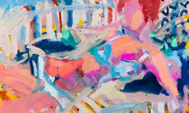 描きかけの絵 | 油彩 x 木製パネル | 31 x 41cm | 2021 #アート