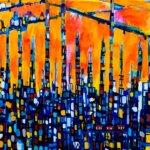 描きかけの絵 | 油彩 x 木製パネル | 72 x 53cm | 2021 #アート