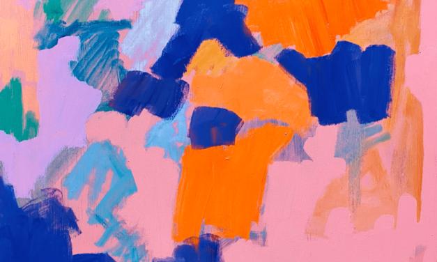描きかけの絵   油彩 x 木製パネル   38 x 45cm   2021 #絵画