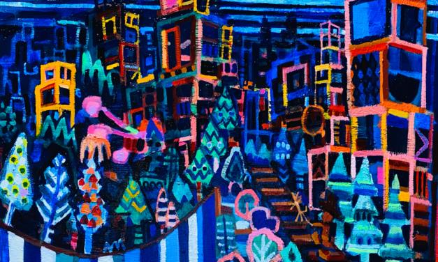 NEW   WATER GARDEN   油彩 x 木製パネル   31 x 41cm   2021 #絵画