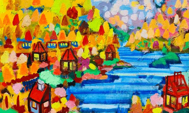 描きかけの絵   油彩 x 木製パネル   31 x 41cm   2021 #絵画