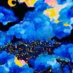 描きかけの絵   油彩 x 木製パネル   53 x 41cm   2021 #絵画