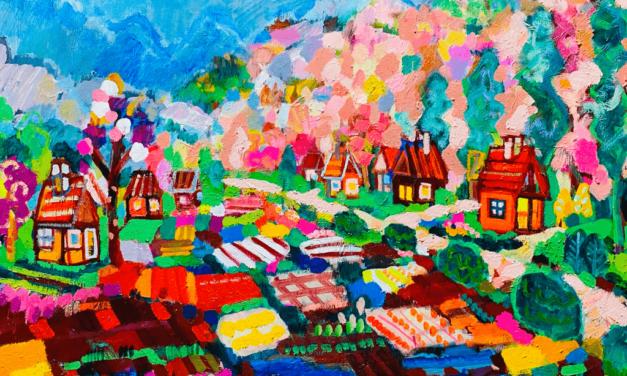 描きかけの絵   油彩 x 木製パネル   53 x 65cm   2021 #絵画